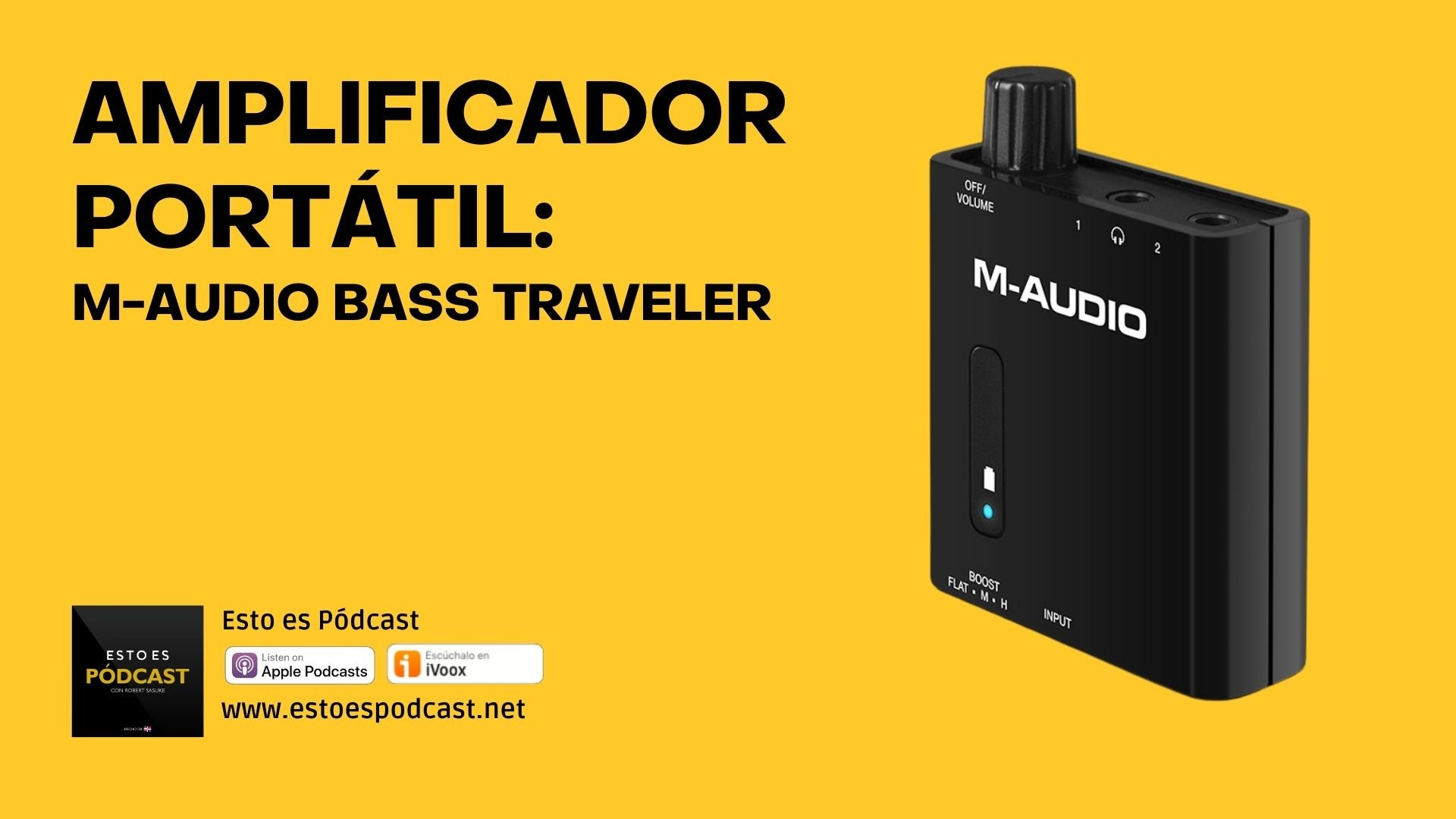 Amplificador para 2 auriculares: M-audio Bass Traveler