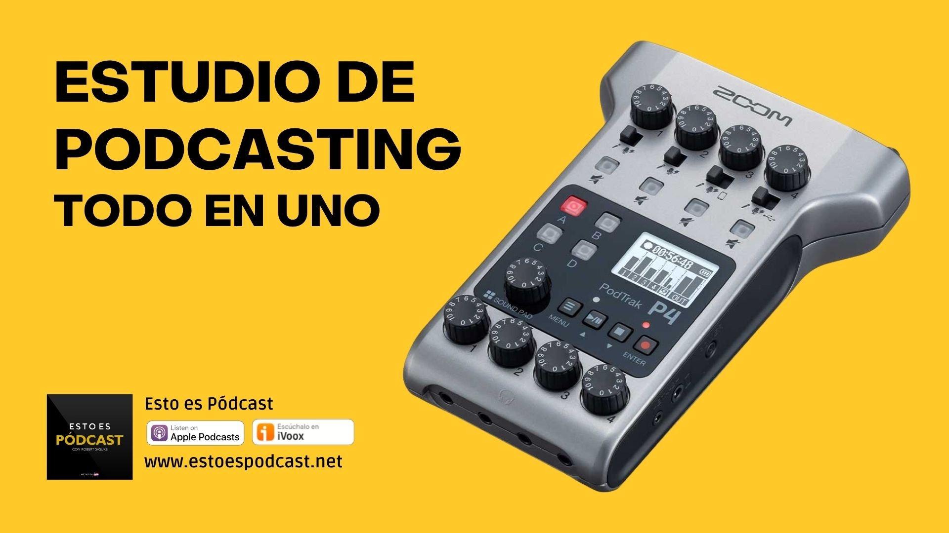 Estudio de podcasting todo en uno: Zoom Podtrak P4