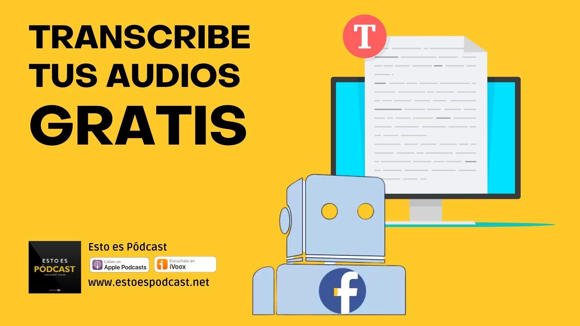 Transcribe tus episodios gratis y sin límite con IA: Wit.ai