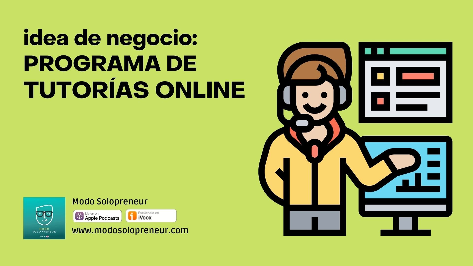 Idea de negocio: Programa de tutorías online