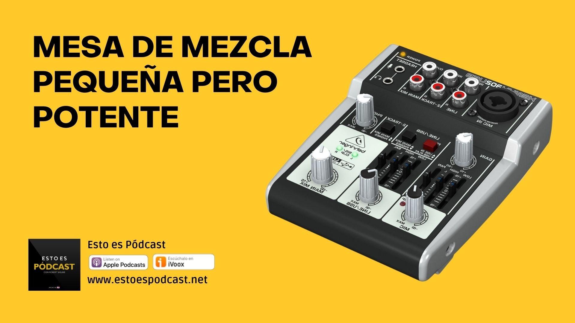 Mesa de mezcla pequeña pero potente: Behringer Xenyx 302 USB